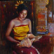 Balinese girl with shell